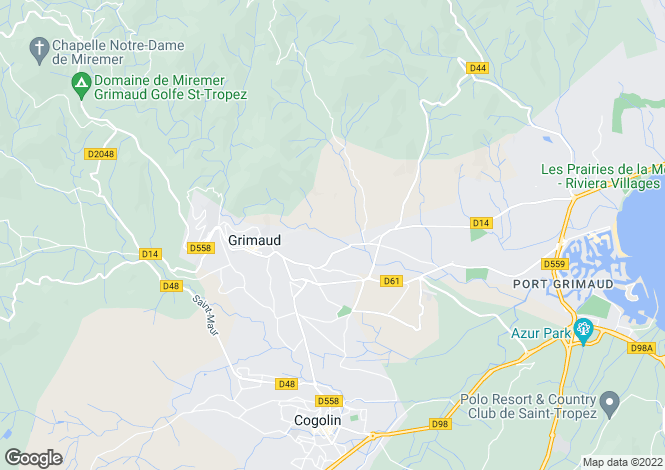 Map for Grimaud, Var Coast, French Riviera
