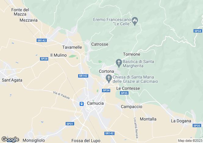 Map for Casa Ripa, Cortona, Tuscany, Italy
