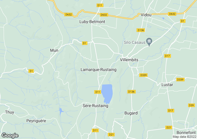 Map for Lamarque-Rustaing, Midi-Pyrenees, 65220, France
