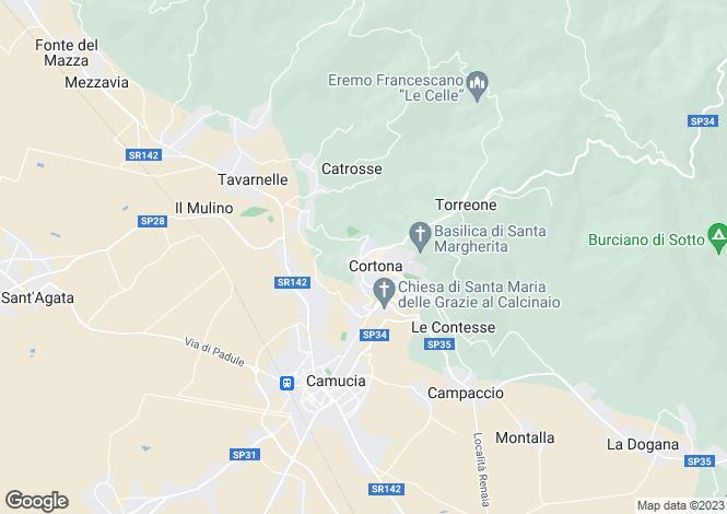 Map for SP34, Cortona, Tuscany