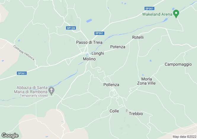 Map for Italy - Le Marche, Macerata, Pollenza