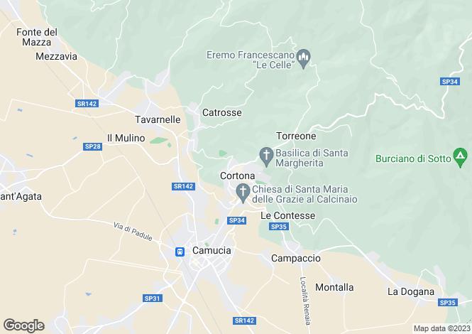Map for Via Vagnotti, Cortona, Tuscany