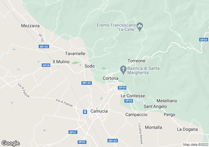 Map for Mercatale, Arezzo, Tuscany