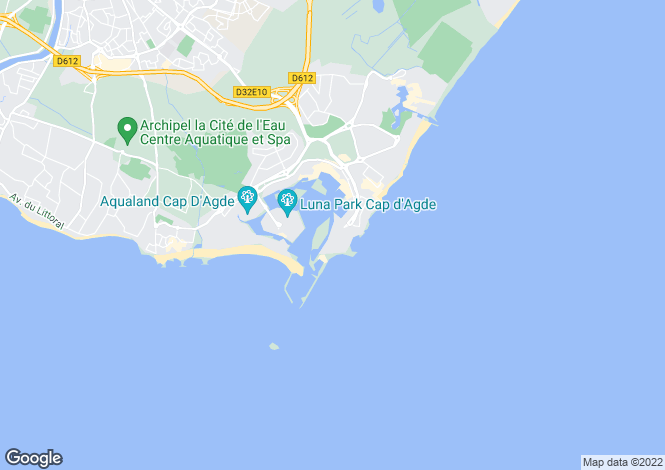 Map for Le Cap D'agde, Herault, 34300, France