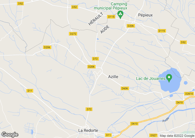Map for azille, Aude, France