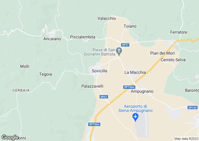 Map for Castello di Sovicille, Siena, Tuscany, Italy