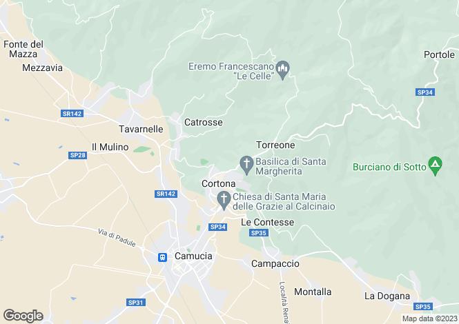 Map for Casa Pescaia, Cortona, Tuscany, Italy