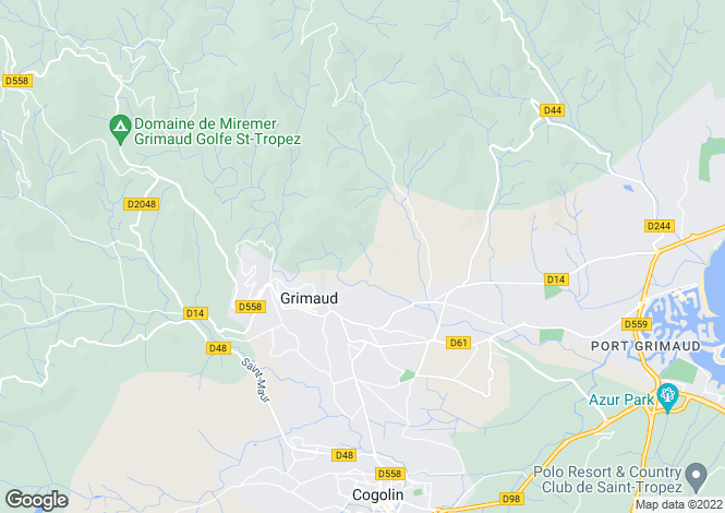 Map for grimaud, Var, France