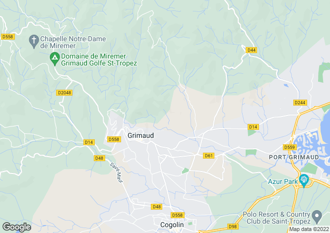 Map for Grimaud, 83310, France