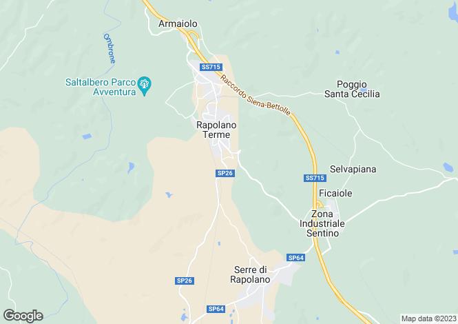 Map for Tuscany, Siena, Rapolano Terme