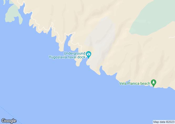 Map for Nerezisca, Brac Island, Split-Dalmatia