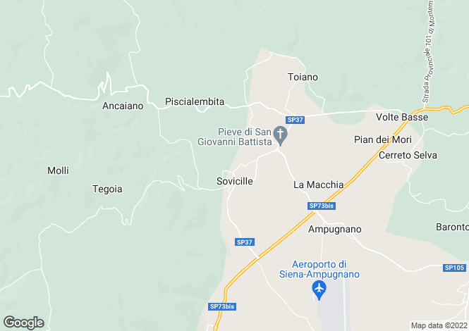 Map for Tuscany, Siena, Sovicille