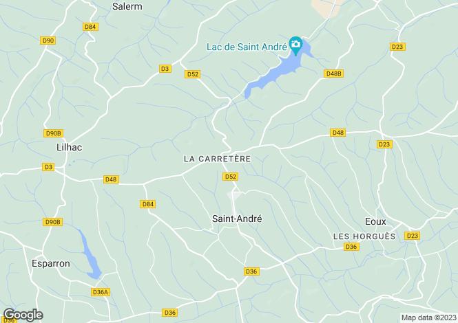 Map for st-andre, Haute-Garonne, France