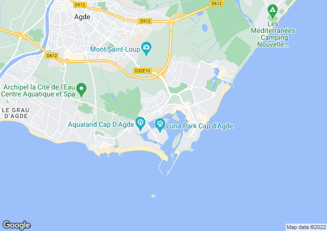 Map for Cap d`Agde, Hérault, Languedoc-Roussillon