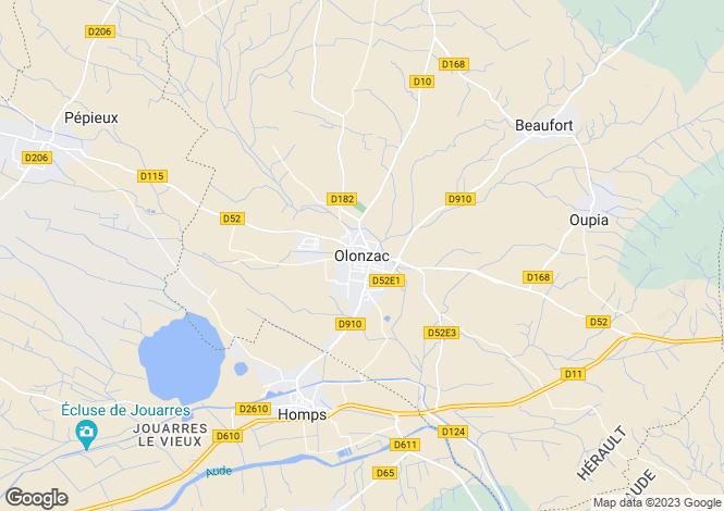 Map for Secteur: Olonzac, Herault