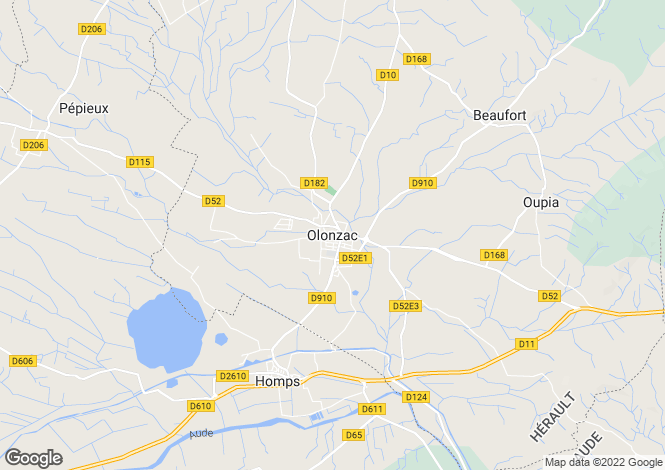 Map for Olonzac, Herault