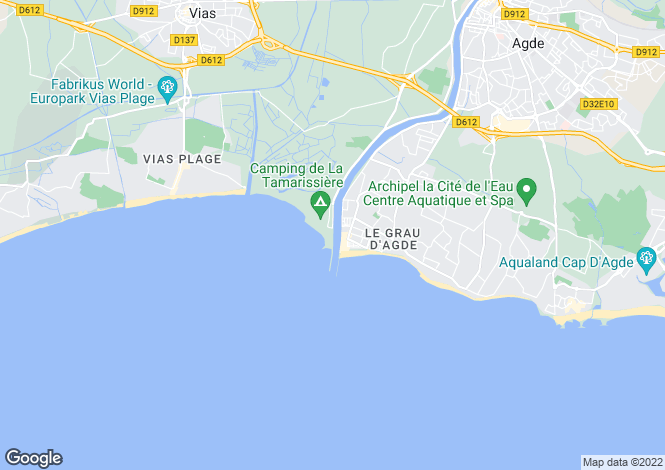 Map for Agde, Hérault, Languedoc-Roussillon