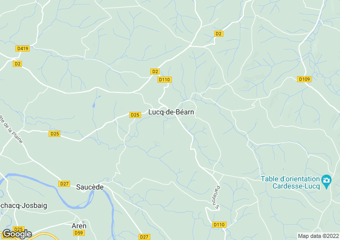 Map for lucq-de-bearn, Pyrénées-Atlantiques, France