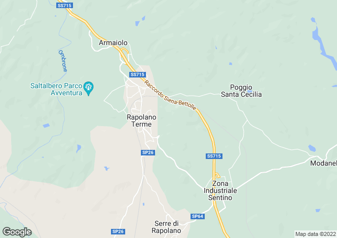 Map for Via Aldo Moro, Rapolano Terme, Tuscany