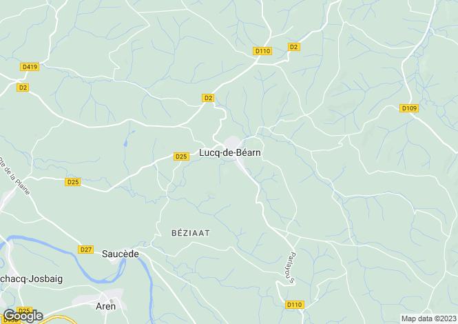 Map for Lucq-de-Béarn, Pyrénées-Atlantiques, Aquitaine