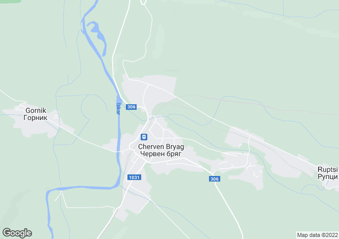 Map for Pleven, Cherven Bryag