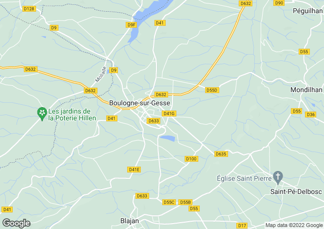 Map for boulogne-sur-gesse, Haute-Garonne, France