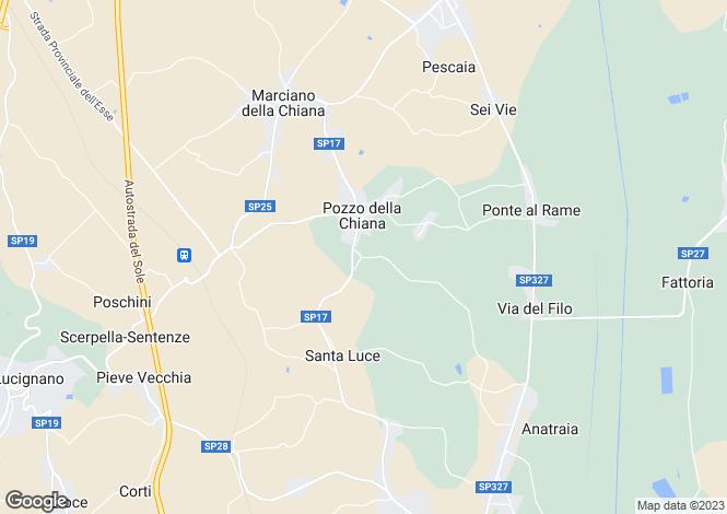 Map for Pozzo della Chiana, Arezzo, Italy