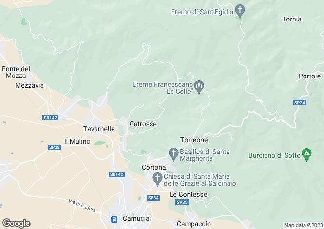Map for Cortona, Sant'Egidio, Arezzo, Tuscany
