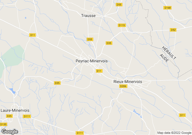 Map for Languedoc-Roussillon, Aude, Peyriac-Minervois