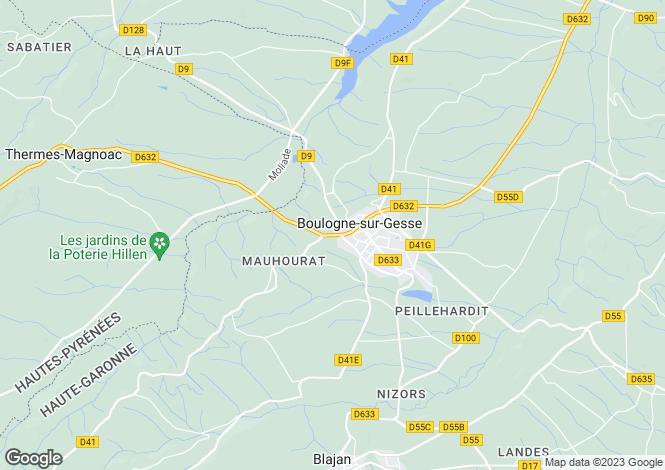 Map for Midi-Pyrénées, Haute-Garonne, Boulogne-sur-Gesse