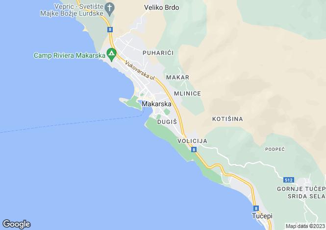 Map for Sea View Villa, Makarska, Split-Dalmatia, Croatia