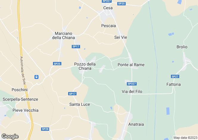 Map for Cottage 6, Giardini di Borgo 69, Marciano Della Chiana, Tuscany, Italy