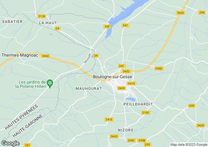 Map for Gensac-De-Boulogne, Midi-Pyrenees, 31350, France