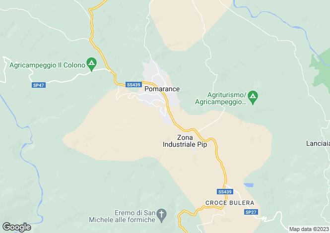 Map for Pomarance