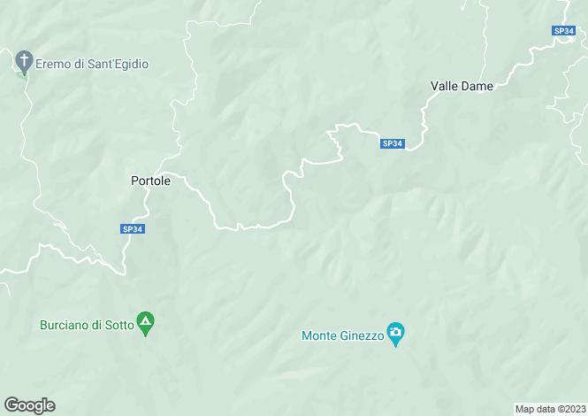Map for Cortona, Tuscany, Italy
