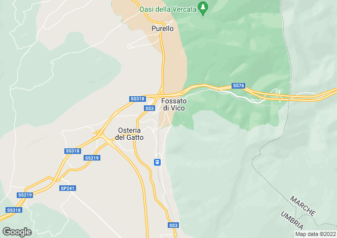 Map for Umbria, Perugia, Fossato di Vico
