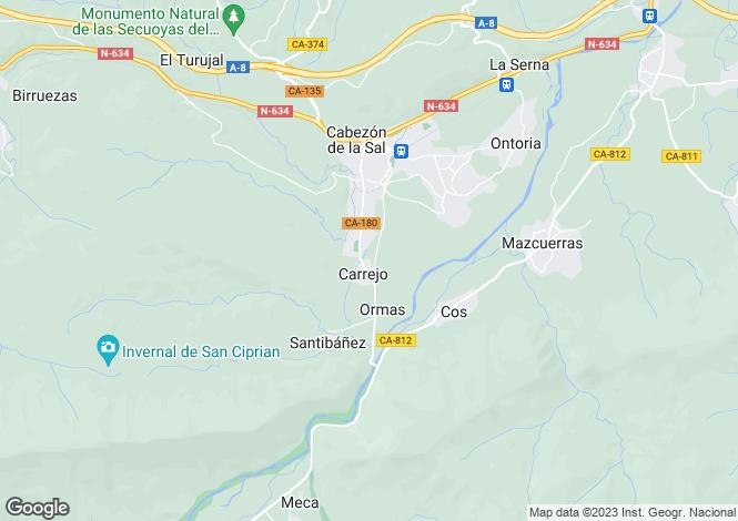 Map for Cabezón de la Sal, Santander, Cantabria