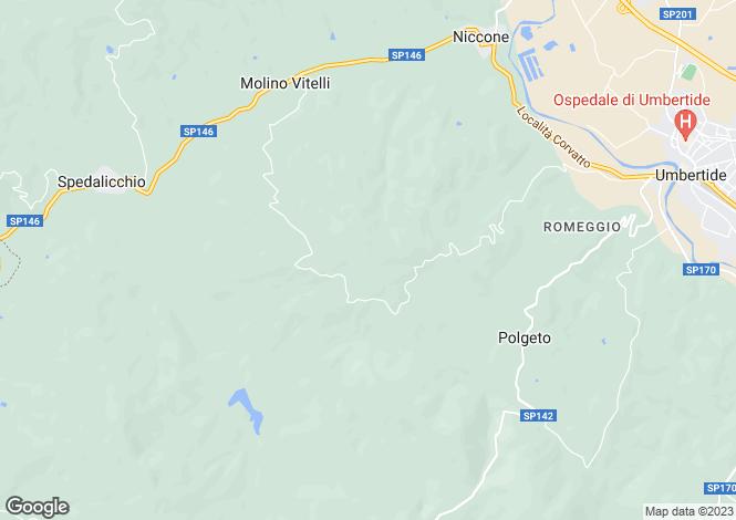 Map for Umbertide, Perugia, Umbria