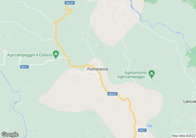 Map for Pomarance, Tuscany, Italy