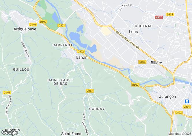 Map for laroin, Pyrénées-Atlantiques, France
