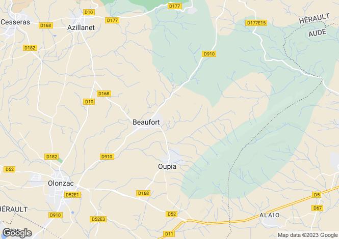 Map for beaufort, Hérault, France
