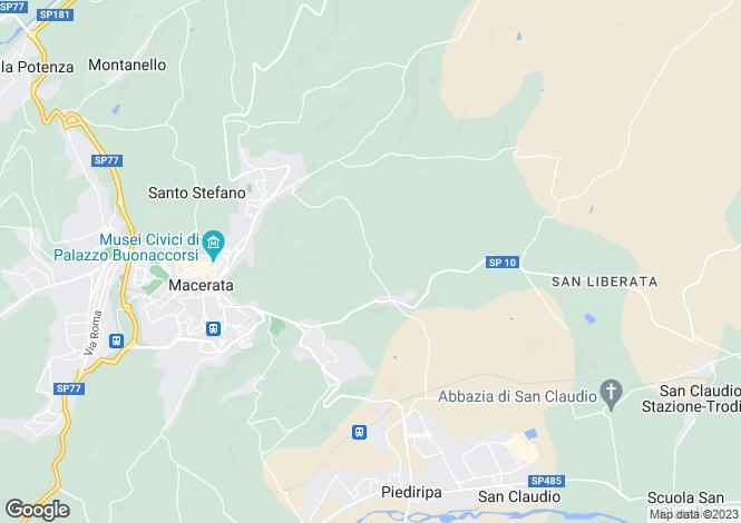 Map for Macerata, Macerata, Le Marche