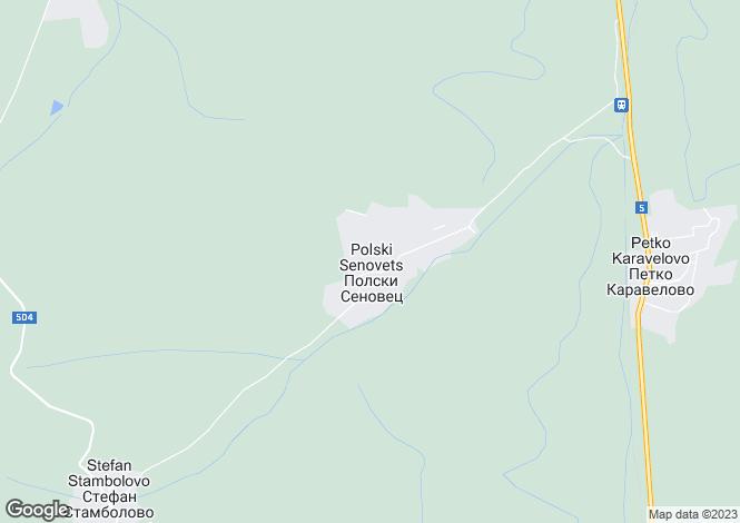 Map for Veliko Tarnovo, Polski Trumbesh