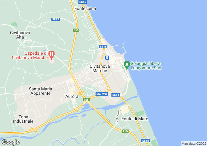 Map for Civitanova Marche, Macerata, Le Marche