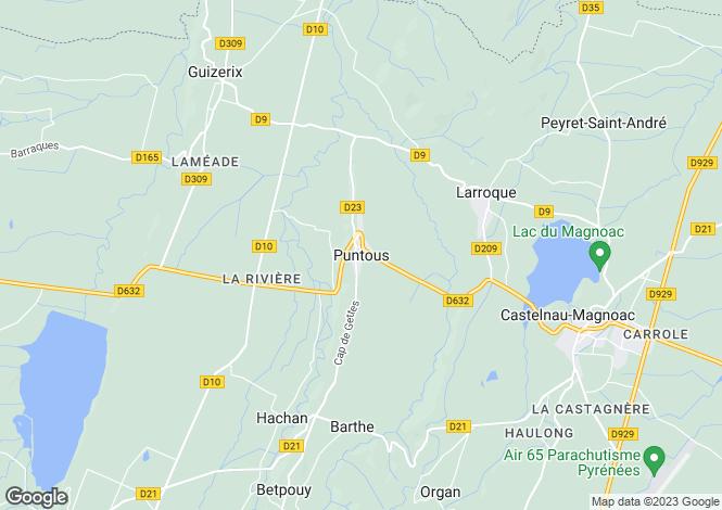 Map for Puntous, Midi-Pyrenees, 65230, France