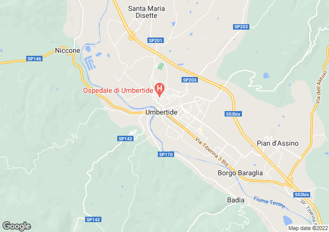Map for Umbria, Perugia, Umbertide