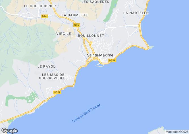 Map for Ste-Maxime, Var, Provence-Alps-Cote d`Azur