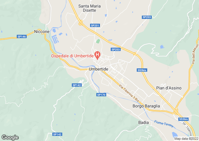 Map for Gosto di Sopra, Umbertide, Umbria, Italy