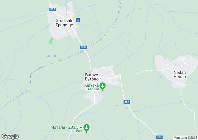 Map for Butovo, Veliko Tarnovo