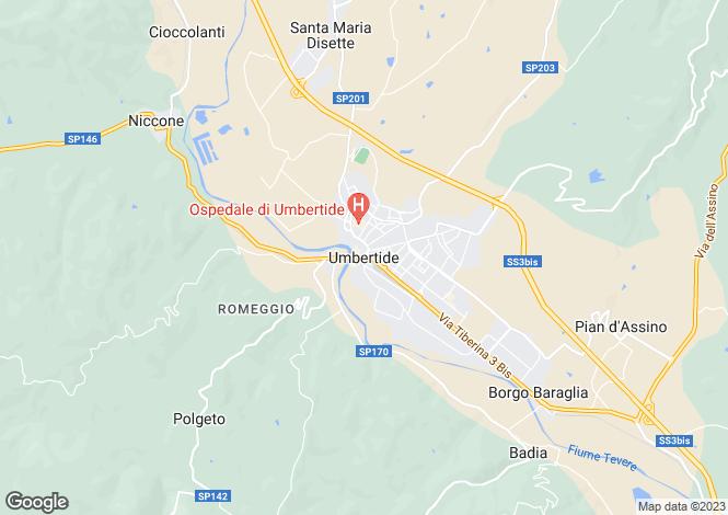 Map for Umbria, Perugia, Umbertide